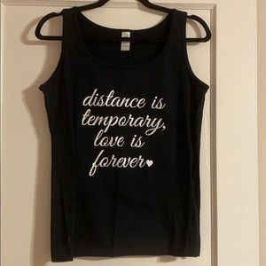 Distance Is Temporary, Love Is Forever 🤍 Tank
